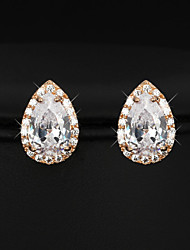 Party Accessories Cubic Zirconia Earrings Fashion Jewelry Gold Plated Lady Stud Earrings
