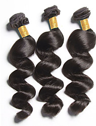 3Bundles 150g Brazilian Hair Weave Natural Black Loose Wave Human Hair Weaves