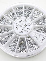Fashion DIY Transparent Diamante Rhinestone Crystal Nail Art Decal Tips Glitters Stickers