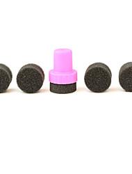 1 set DIY 1 stamper + 4 mutável esponja prego stamper art design sombra de transferência