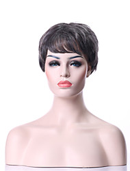 Capless Synthetic Grey Wig Fashion Curly Hair Short Gray Full  Wig New Arrival