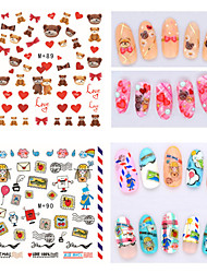 1pcs Fresh Nail Watermark Sticker87-90