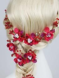 Women's Fabric Headpiece-Wedding / Casual / Outdoor Headbands / Hair Pin 4 Pieces