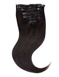 """neitsi® 20 """"7pcs set 100% real remy Klipp in den Menschenhaarerweiterungen gerade reine ombre Haar"""