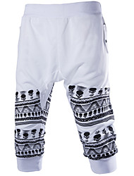 Men's Sweatpants,Casual / Plus Sizes Print Cotton