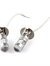 2 X  H3 5W White 2323 Smd 10 Led Auto Fog Light Lamp Bulb New