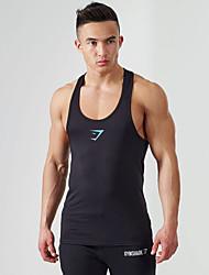 The New Foreign Trade Men's Professional Bodybuilding Vest Digging Word Slim vest
