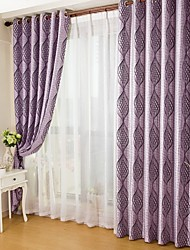 Two Panels European Cationic Double Color Jacquard Window Shade Curtains Drapes