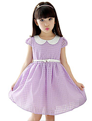 Girl's Pink / Purple / Red Dress Rayon Summer