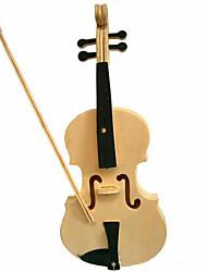 Quebra-cabeças Quebra-Cabeças 3D / Quebra-Cabeças de Madeira Blocos de construção DIY Brinquedos Violino Madeira BegeModelo e Blocos de