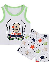 Girl's Clothing Set,Cotton Summer / Spring Green