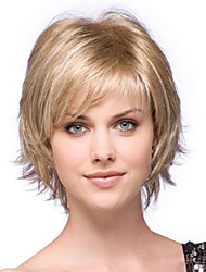2015 novo alice virou curto peruca de cabelo sintético perucas mistura loira para as mulheres
