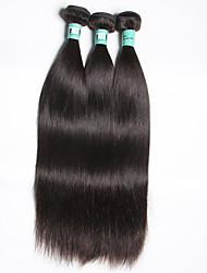 3 unidades / lote 8-30inches brasileiro do cabelo virgem reta de 100% brasileira não transformados tecer cabelo humano