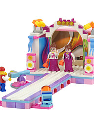 The Girl Assembly Plastic T Stage Building Blocks Toys Children's Educational Toys Diorama Technics