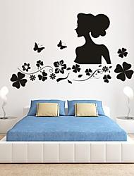 Romance / De moda / Florales Pegatinas de pared Calcomanías de Aviones para Pared,PVC S:38*63cm / M:61*100cm/ L:81*132cm