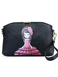 Women PU Baguette Shoulder Bag