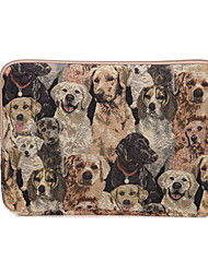 "Sleeve for Macbook 12"" Macbook Air 11""/13"" Macbook Pro 13"" Animal Canvas Material Cute Dog Design Canvas Laptop Sleeve Bag Ultrabook Case"
