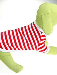 Classic Stripe Cound Collar Pet T-Shirt