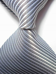 New Striped Gray JACQUARD WOVEN Men's Tie Necktie TIE2051