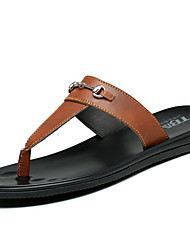 Men's Shoes Outdoor / Office & Career / Athletic / Dress / Casual Nappa Leather Slippers Black /Brown/White