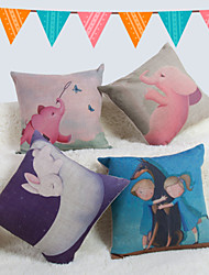 Baolisi Set of 4 Cartoon Decorative Pillow /Children of the World
