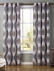 One Panel Modern Geometic Multi-color Living Room Polyester Panel Curtains Drapes 52 inch Per Panel