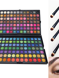 168 Colors Professional Dazzling Matte&Shimmer 3in1 Eyeshadow Makeup Cosmetic Palette with 4 Eyeshadow Brush
