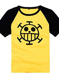 Inspiriert von One Piece Trafalgar Law Anime Cosplay Kostüme Cosplay-T-Shirt Druck Gelb Kurze Ärmel Mantel