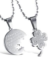 Colliers Tendance Pendentif de collier Bijoux Mariage / Soirée Alliage Argent 1 paire Cadeau