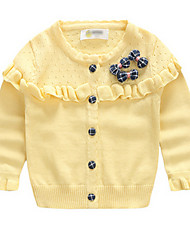 Girl's Sweater & Cardigan,Cotton Spring / Fall Yellow