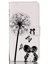 Dandelion Child Under PU Leather Wallet Case for IPhone 6 Plus Iphone 6S Plus