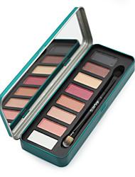 8 Paleta de Sombras Secos / Brilho Paleta da sombra Pó NormalMaquiagem para o Dia A Dia / Maquiagem para Halloween / Maquiagem de Festa /