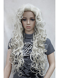 New Fashion Hair Women's Cosplay Party Wigs Blonde Long Curly Bangs Full Wig