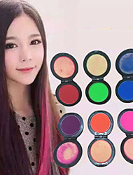 6 Colors Temporary Hair Chalk Powder  Pastel Hair Dye Dye Soft Pastels Salon Party Christmas DIY