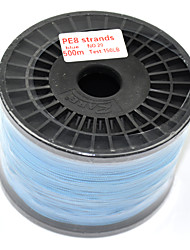 PE Braided Fishing Line 8 Strands 500m/550Yards 150LB 0.70mm Blue