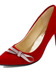 Women's Shoes Stiletto Heel Pointed Toe Heels Dress / Casual Black / Blue / Red