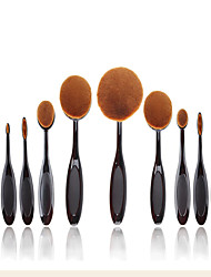 2016 New 10 Pcs Soft Toothbrush Makeup Brush Sets Foundation Brushes Cream Contour Powder Blush Makeup Cosmetics Too