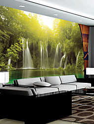 JAMMORY Large - scale Murals Wall Wallpaper Chinese - style Living Room TV Sofa Background Wall Cloth Landscape Waterfalls Mural XL XXL XXXL