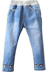 Girl's Jeans,Cotton Fall / Spring Blue