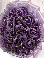 Elegant Rose Flower Handmade Wedding Brooch Bouquets Bridal Bouquet