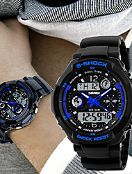 SKMEI® Men's Analog- Digital Silicone Band 30m Water-resisstant Multi-Functional Dual Time Zones Sports Watch Cool Watch Unique Watch