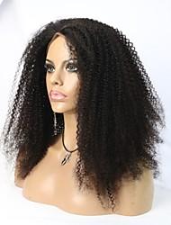 vente chaude qualité 8a cheveux 100% afro crépus perruque bouclée avant pleine / dentelle pour les femmes noires