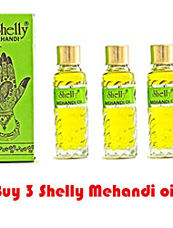 3 Shelly Mehandi Henna Oil Mehndi for Darkening Henna Body Paint Art Kit Tattoo