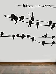 Animales / Romance / De moda Pegatinas de pared Calcomanías de Aviones para Pared,PVC S:37*60cm / M:64*100cm/ L:84*131cm