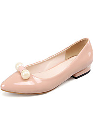 Women's Shoes Low Heel Comfort / Pointed Toe Flats Wedding / Outdoor / Dress / Casual Black / Pink / Red / White