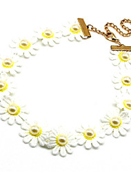 Vilam® Latest Hit Daisy Fabric Embroidery Fake Collar Choker Necklaces 1pc