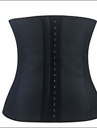 Shaperdiva Women's Sexy Waist Training Cincher Underbust Black Slim Corset Sport Latex Body Shaper