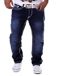 Masculino Calça Casual Estampado Algodão Manga Comprida Masculino