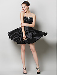 TS Couture® Prom  Cocktail Party Dress - Two Pieces A-line Sweetheart Short / Mini Charmeuse / Sequined with Crystal Detailing / Sequins