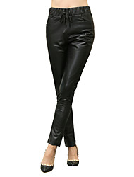 Women's Leather Trousers/Lady's  Pants Casual /Simple 02